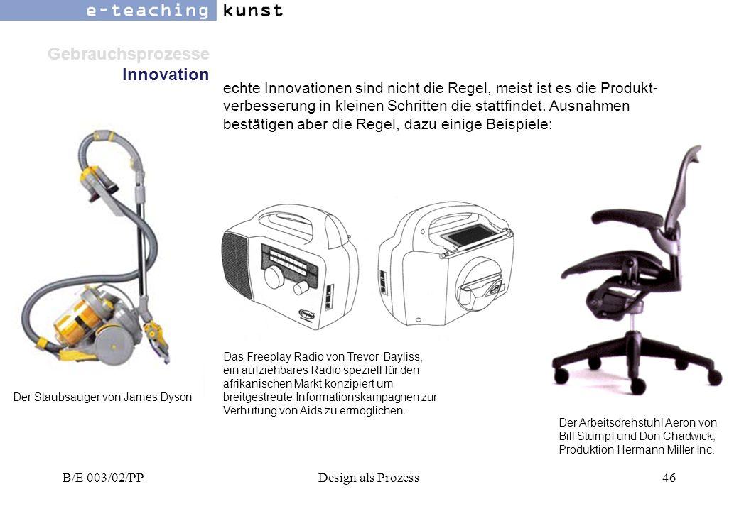 Gebrauchsprozesse Innovation