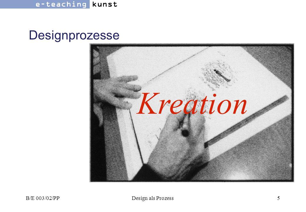 Designprozesse Kreation B/E 003/02/PP Design als Prozess