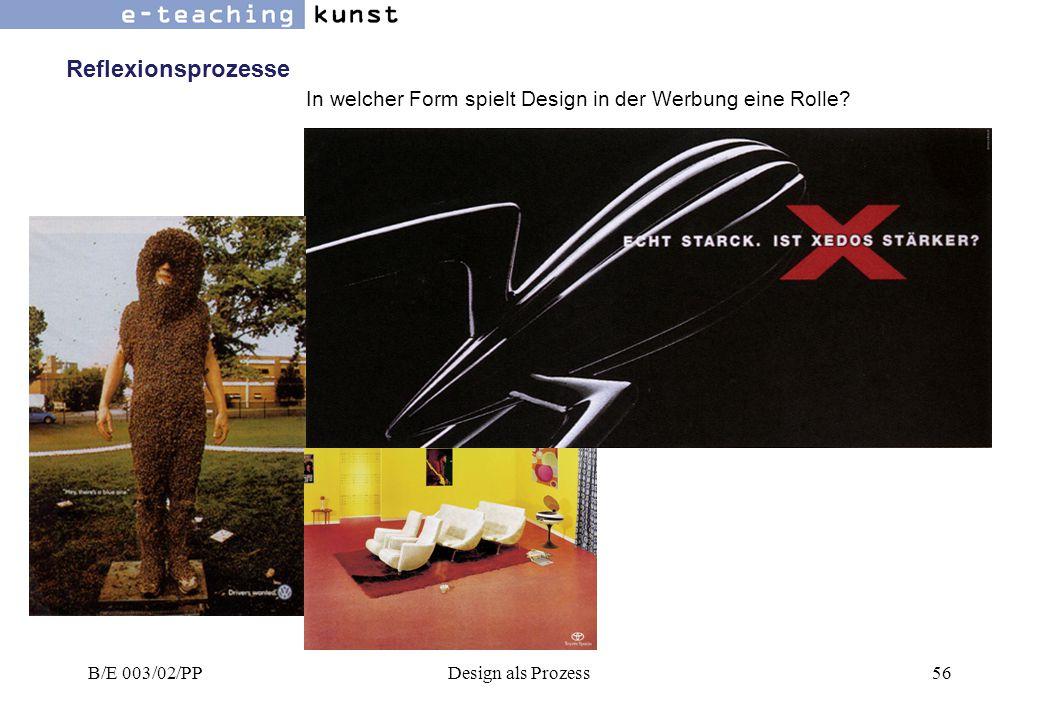 Reflexionsprozesse In welcher Form spielt Design in der Werbung eine Rolle.