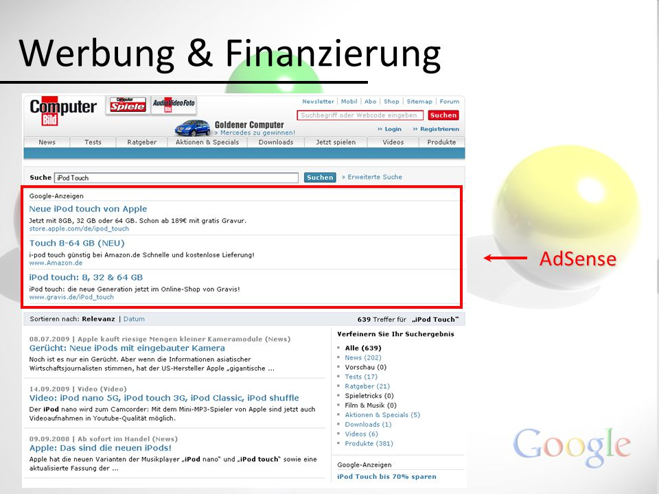 Werbung & Finanzierung