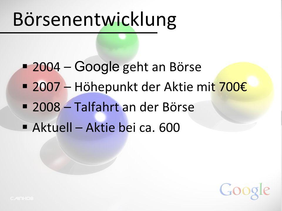 Börsenentwicklung 2004 – Google geht an Börse