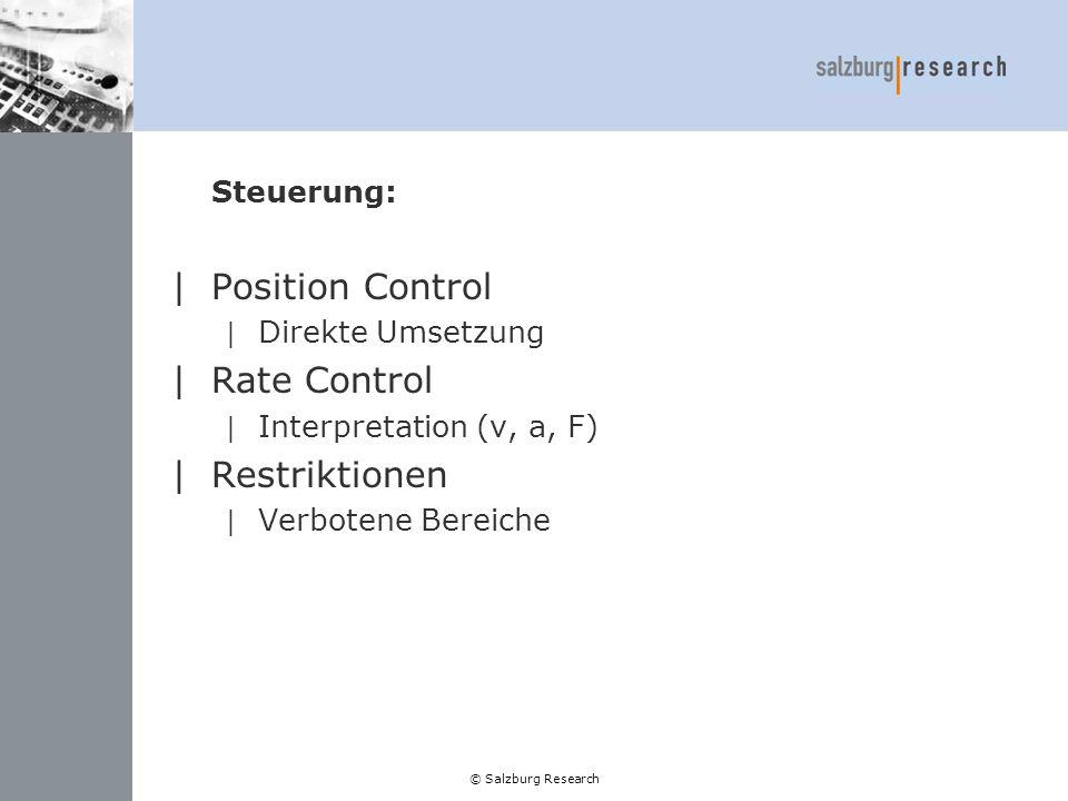 Position Control Rate Control Restriktionen Steuerung: