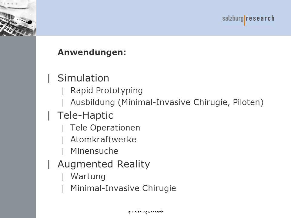 Simulation Tele-Haptic Augmented Reality Anwendungen: