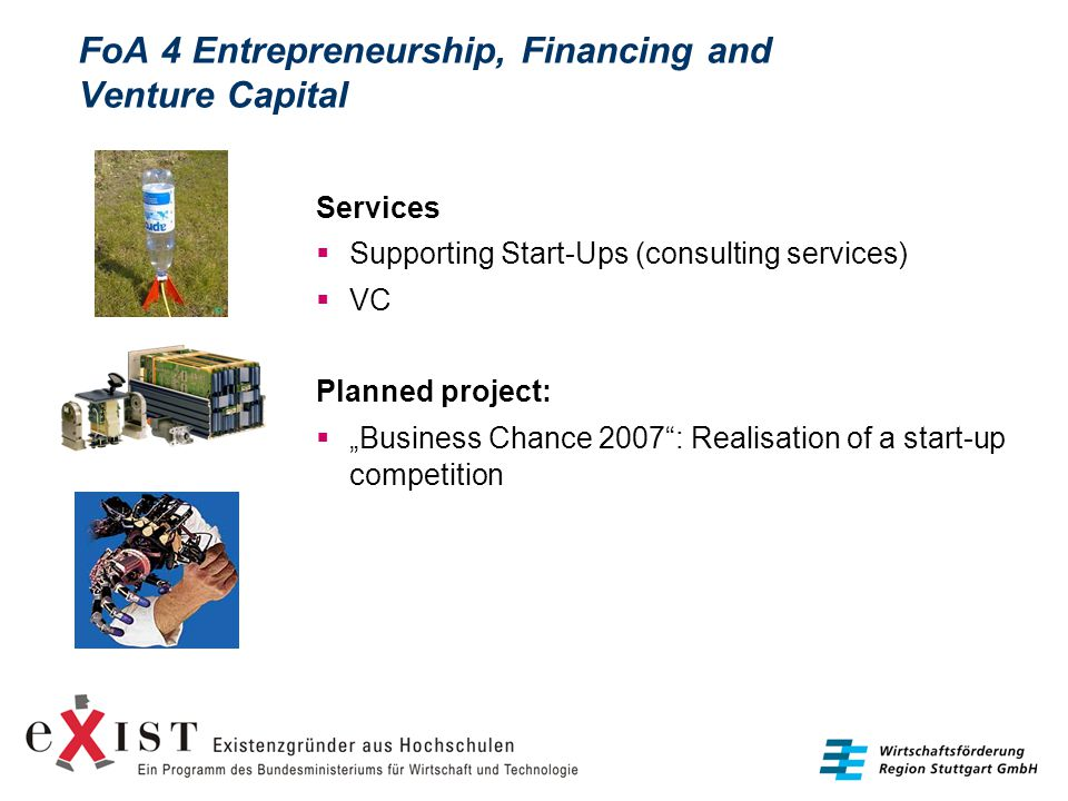 FoA 4 Entrepreneurship, Financing and Venture Capital