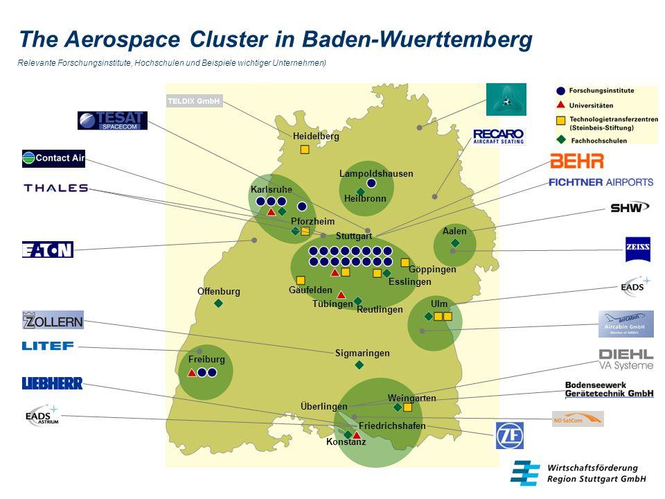 The Aerospace Cluster in Baden-Wuerttemberg Relevante Forschungsinstitute, Hochschulen und Beispiele wichtiger Unternehmen)