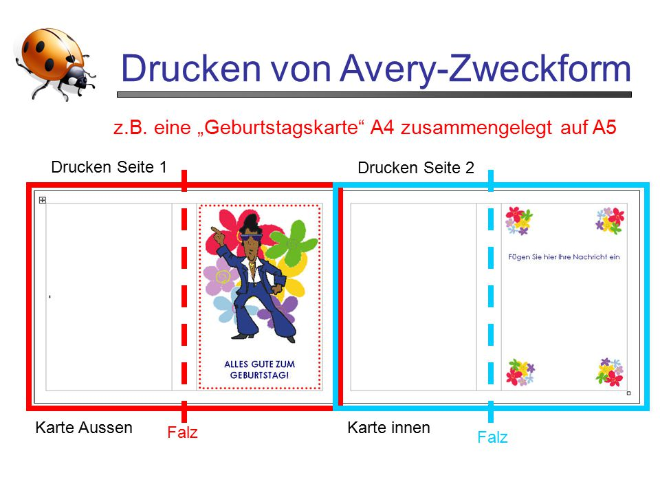 Drucken von Avery-Zweckform