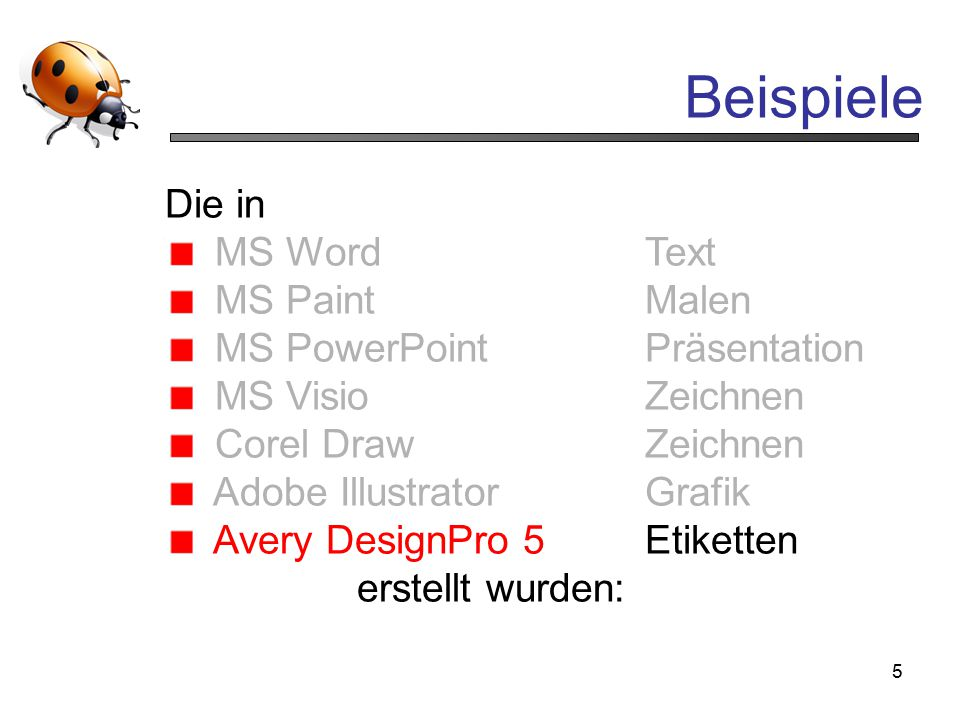 Beispiele Die in MS Word Text MS Paint Malen