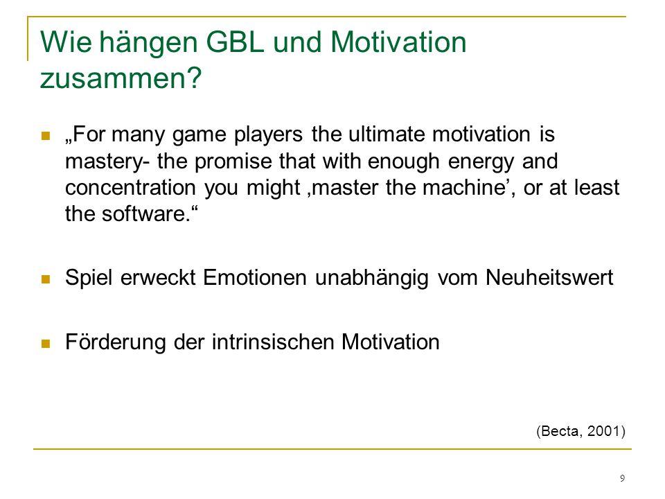 Wie hängen GBL und Motivation zusammen