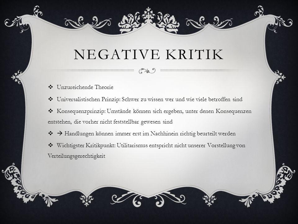 Negative Kritik Unzureichende Theorie
