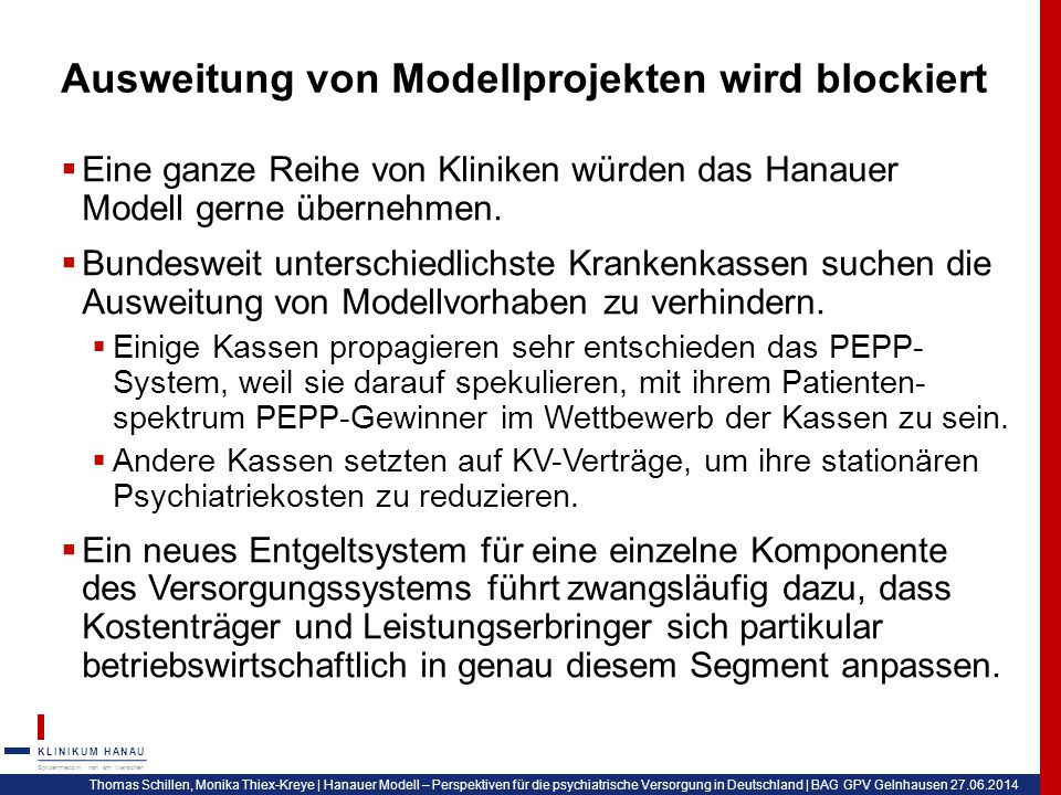 Ausweitung von Modellprojekten wird blockiert