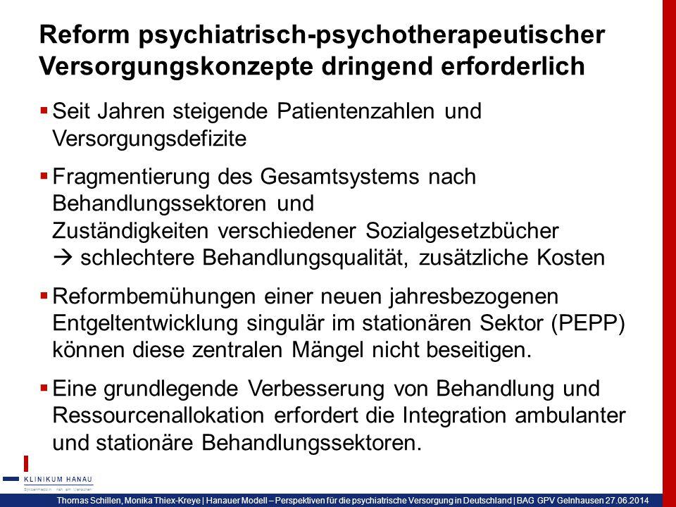 Reform psychiatrisch-psychotherapeutischer Versorgungskonzepte dringend erforderlich