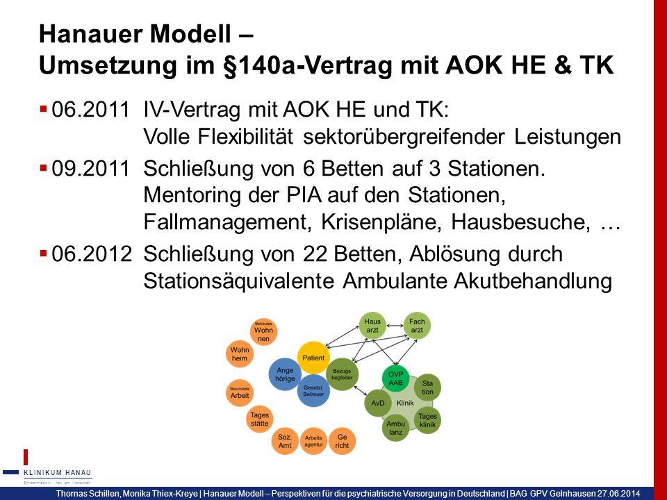Hanauer Modell – Umsetzung im §140a-Vertrag mit AOK HE & TK