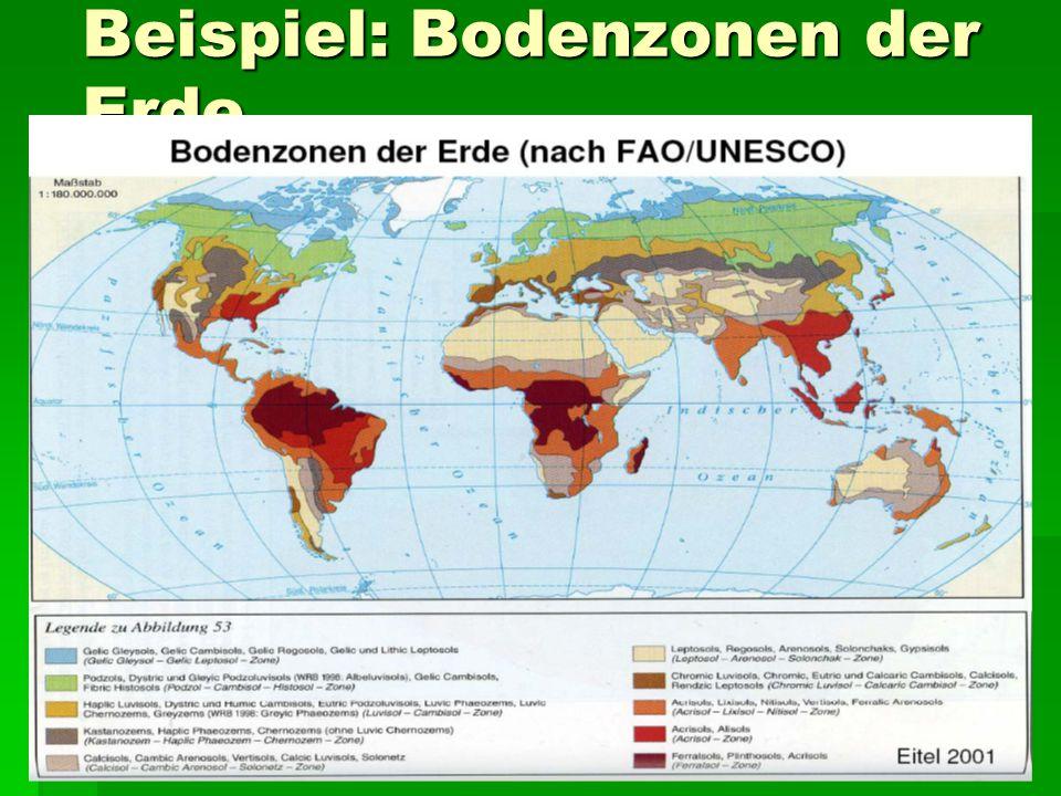Beispiel: Bodenzonen der Erde