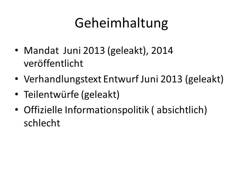 Geheimhaltung Mandat Juni 2013 (geleakt), 2014 veröffentlicht