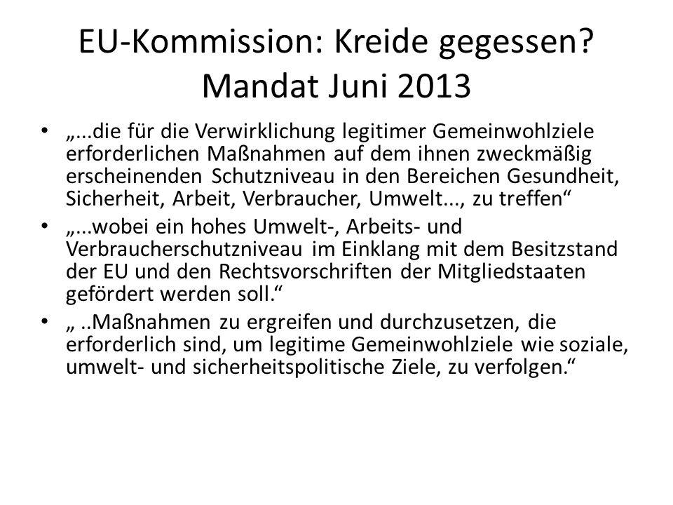 EU-Kommission: Kreide gegessen Mandat Juni 2013