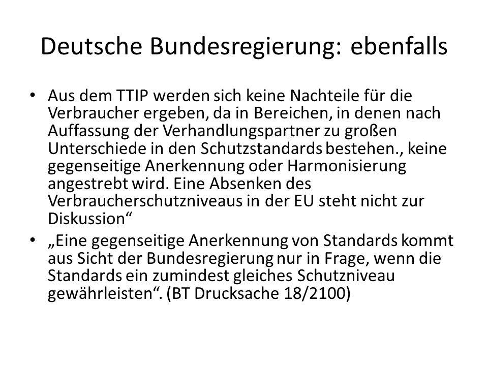 Deutsche Bundesregierung: ebenfalls