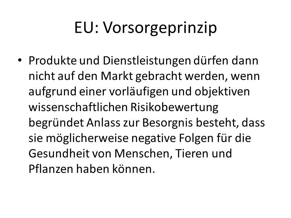 EU: Vorsorgeprinzip