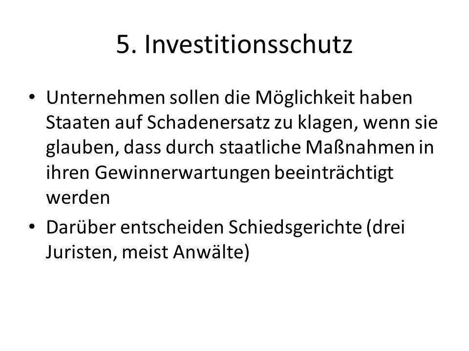 5. Investitionsschutz