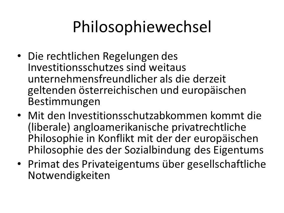 Philosophiewechsel