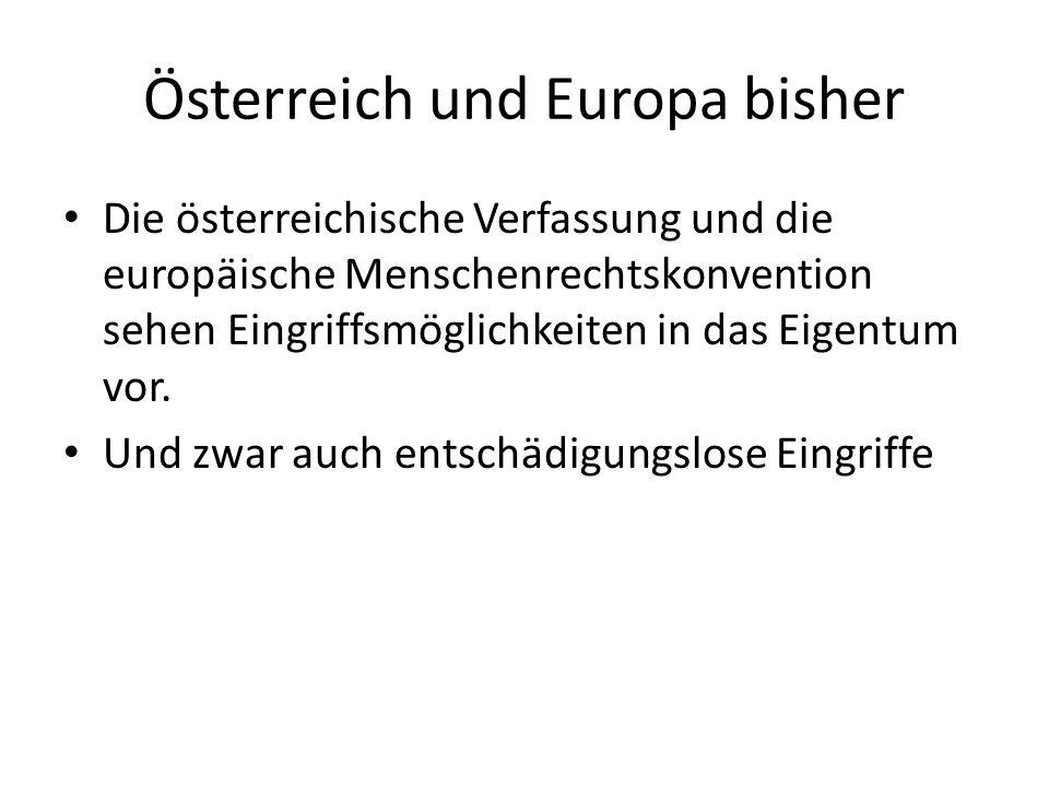 Österreich und Europa bisher