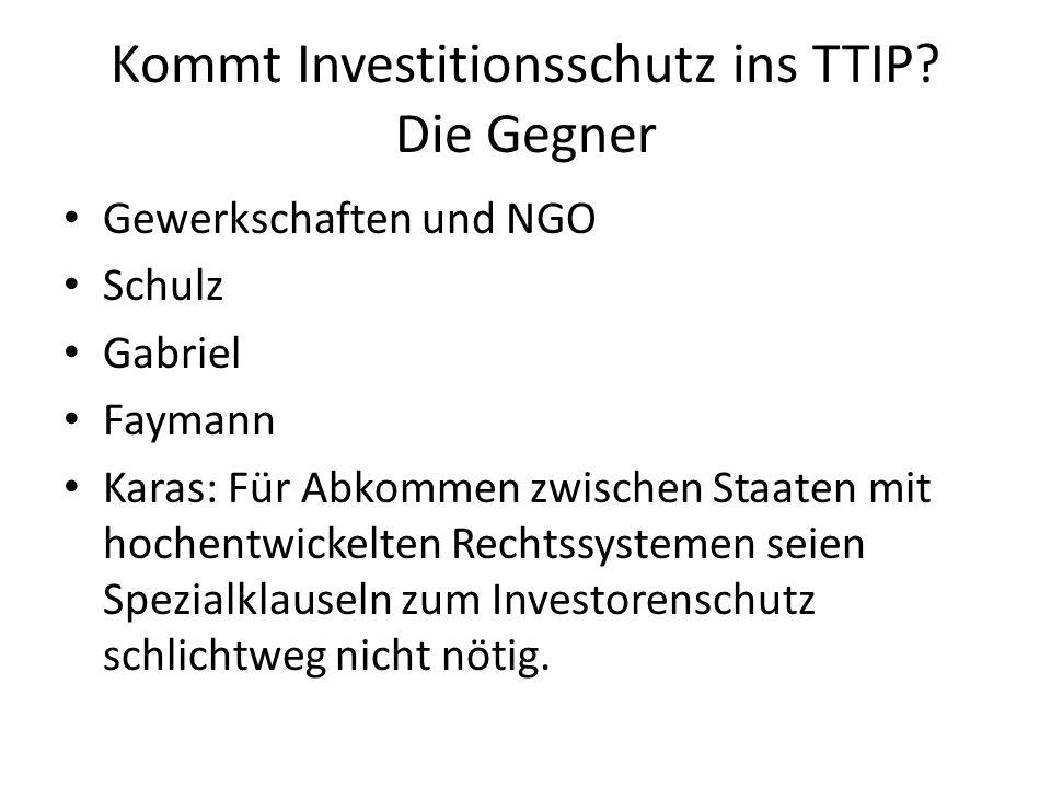Kommt Investitionsschutz ins TTIP Die Gegner