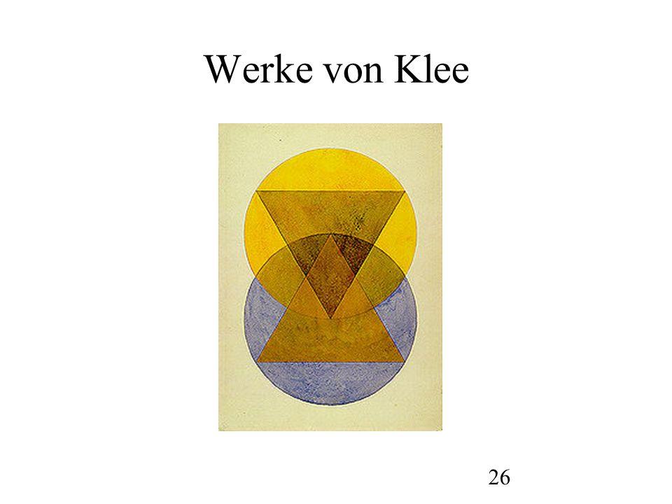 Werke von Klee