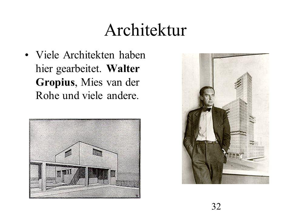 Architektur Viele Architekten haben hier gearbeitet.
