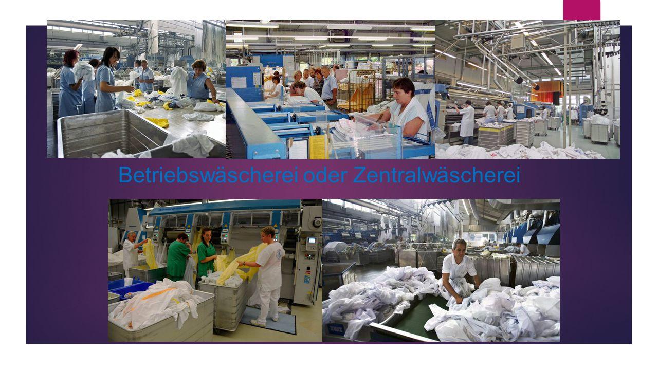 Betriebswäscherei oder Zentralwäscherei
