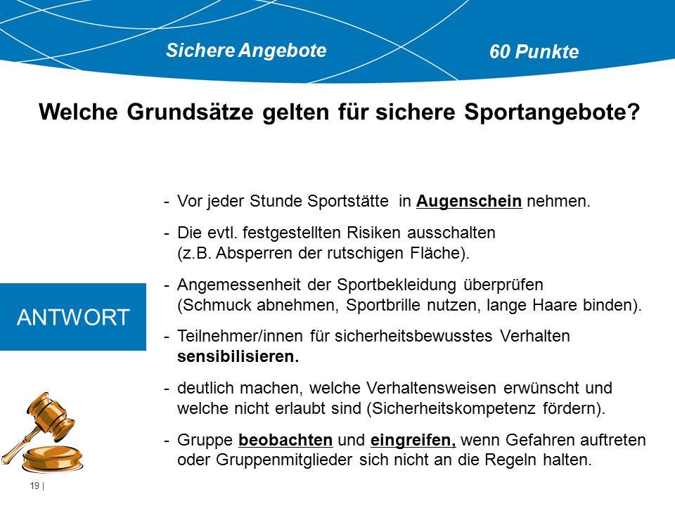Welche Grundsätze gelten für sichere Sportangebote
