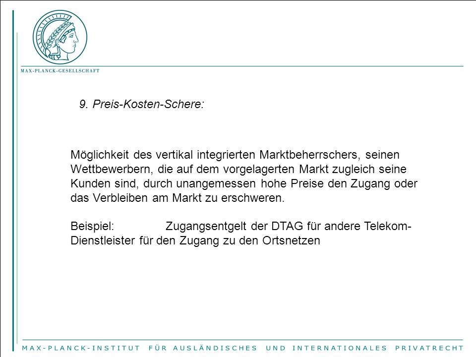 9. Preis-Kosten-Schere: