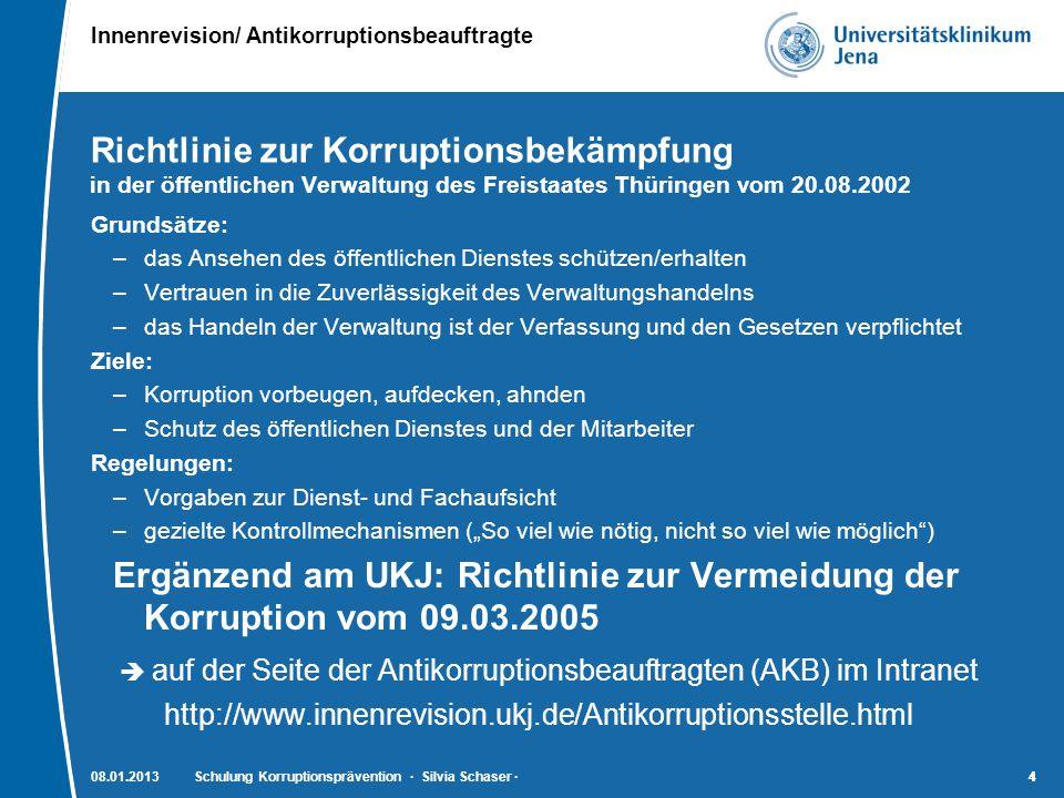 auf der Seite der Antikorruptionsbeauftragten (AKB) im Intranet