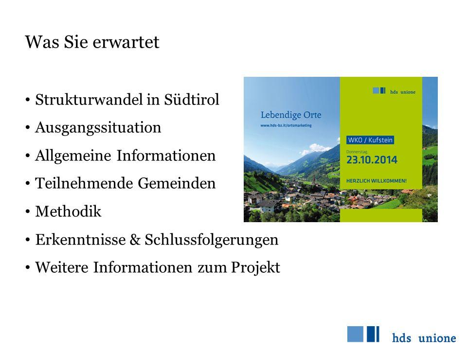 Was Sie erwartet Strukturwandel in Südtirol Ausgangssituation