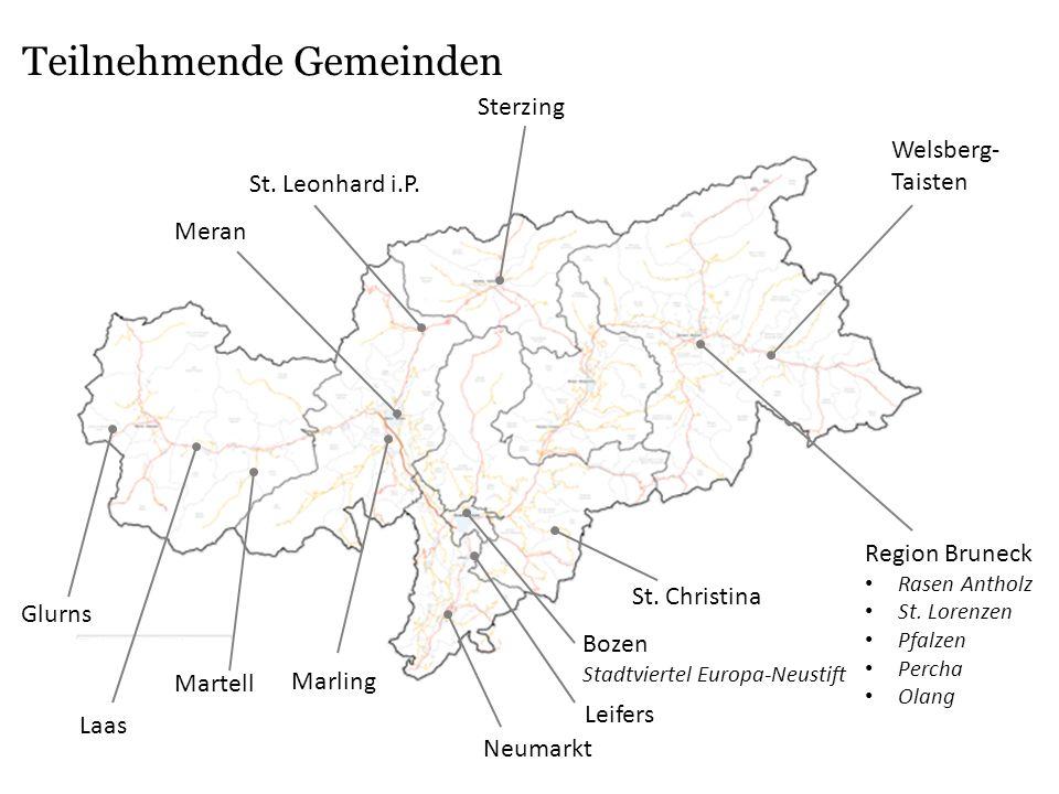 Teilnehmende Gemeinden