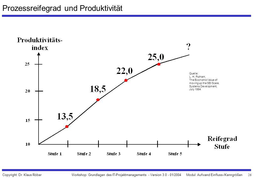 Prozessreifegrad und Produktivität