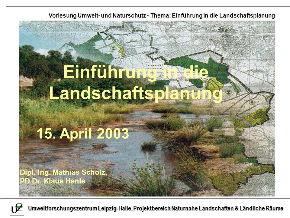 Einführung in die Landschaftsplanung