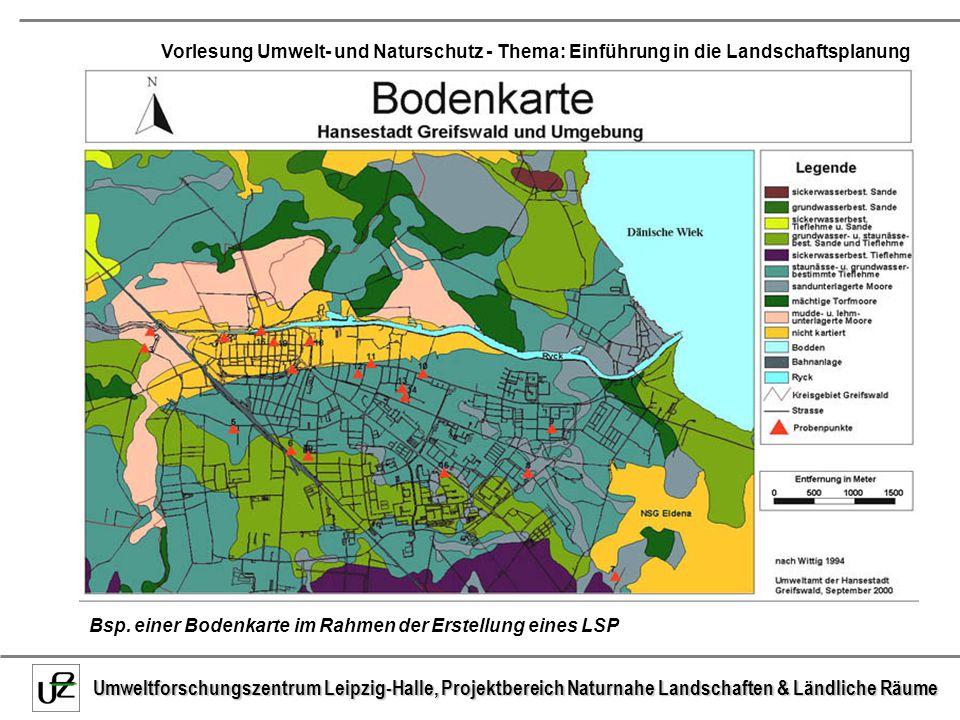 Bsp. einer Bodenkarte im Rahmen der Erstellung eines LSP
