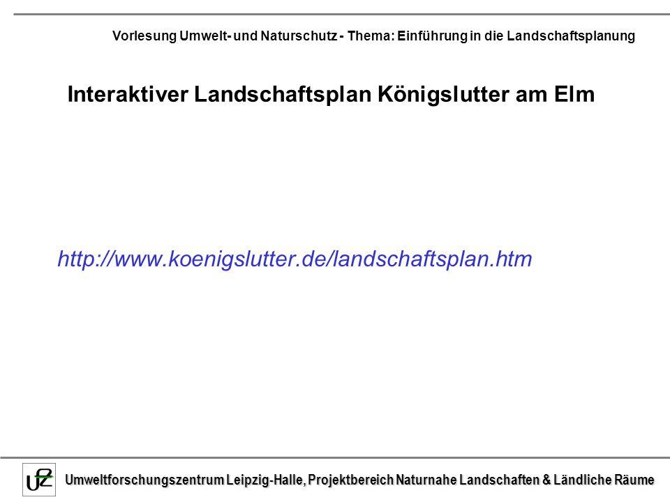 Interaktiver Landschaftsplan Königslutter am Elm