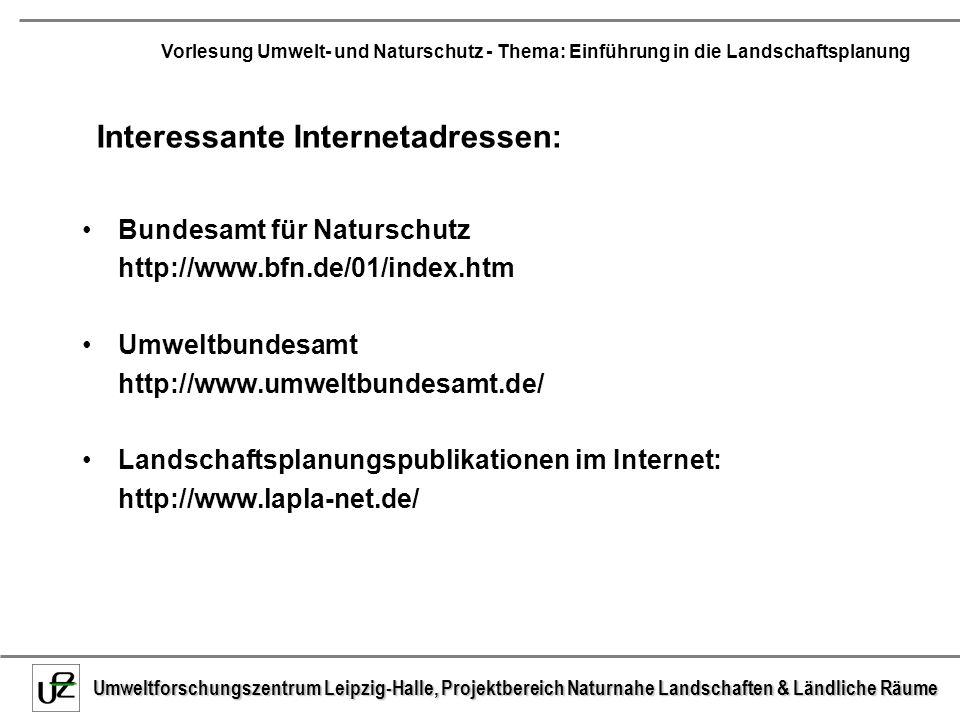 Interessante Internetadressen: