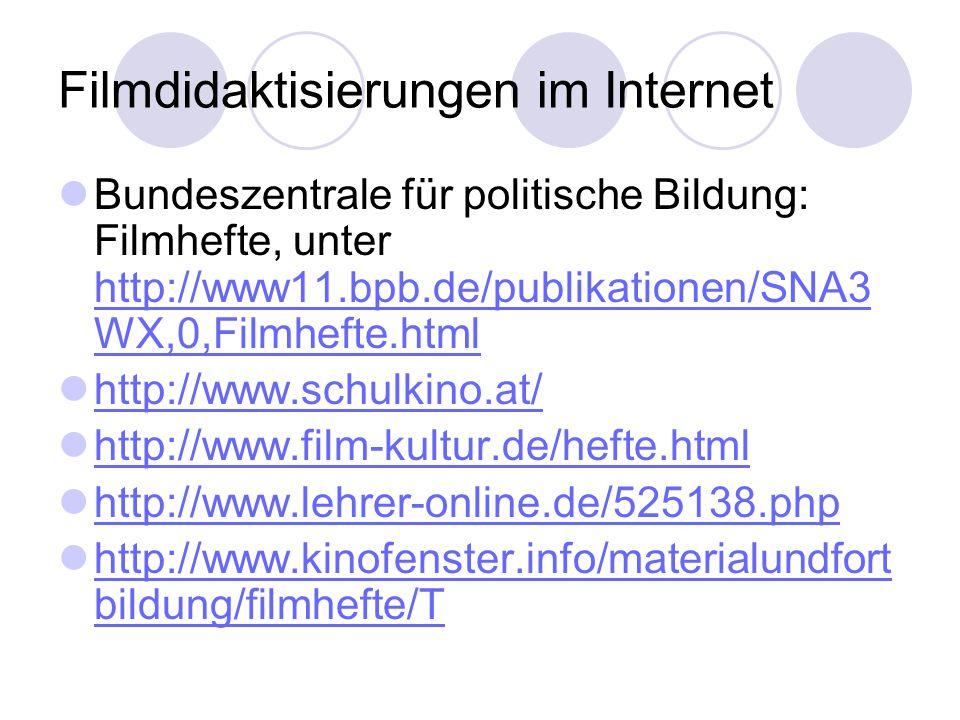Filmdidaktisierungen im Internet