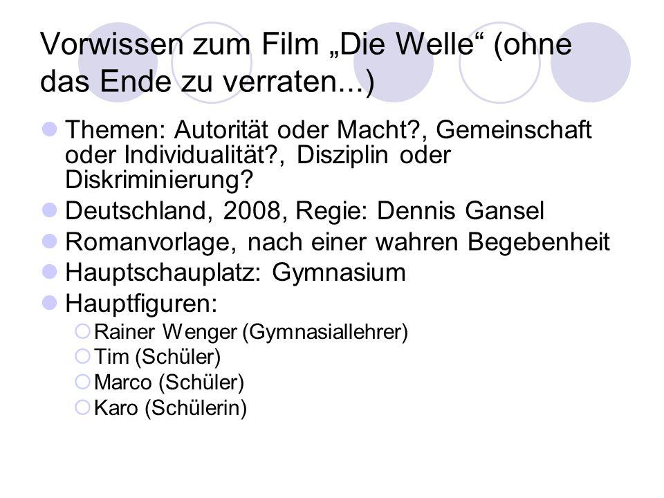 """Vorwissen zum Film """"Die Welle (ohne das Ende zu verraten...)"""