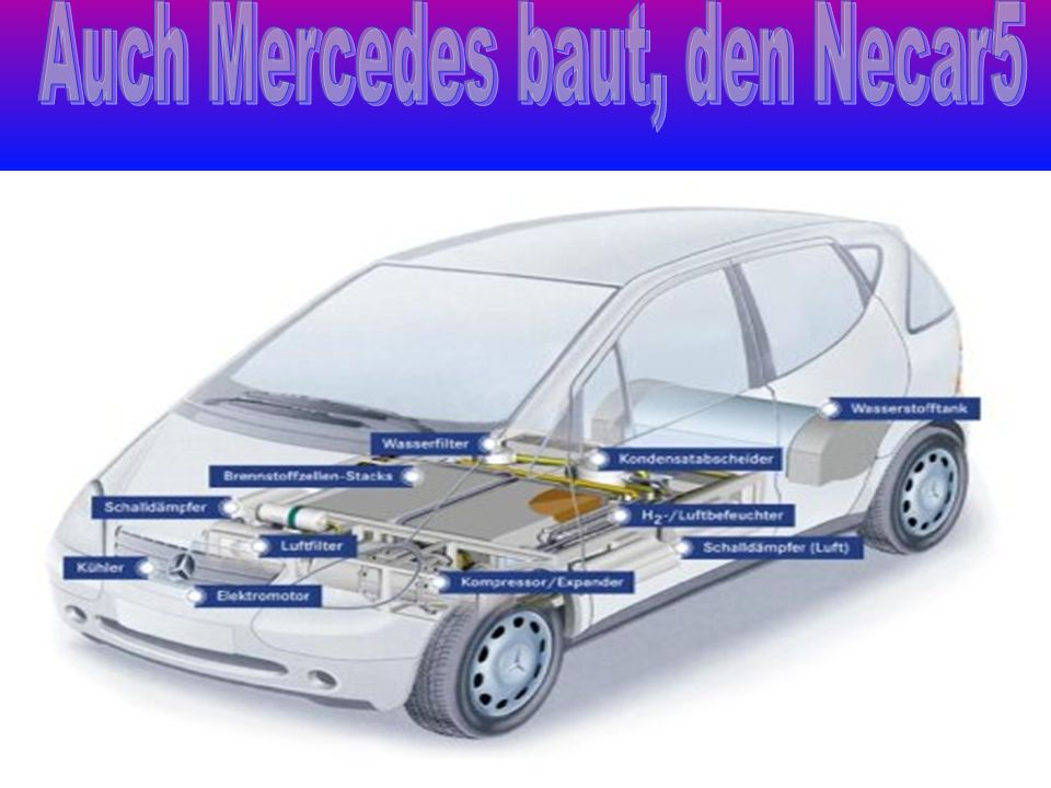 Auch Mercedes baut, den Necar5