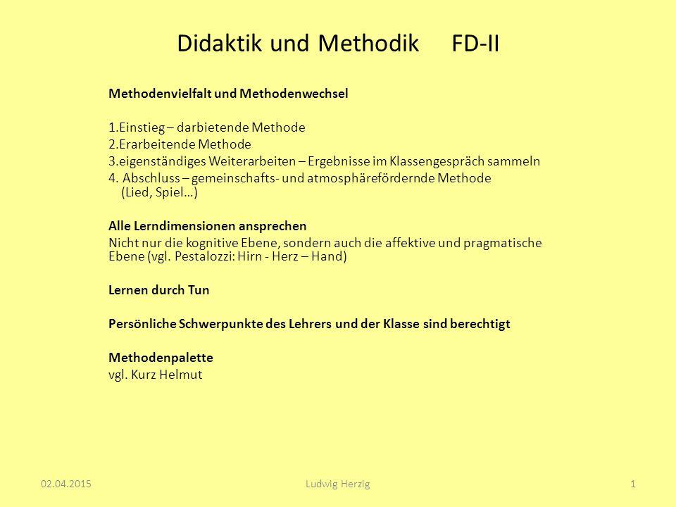 Didaktik und Methodik FD-II