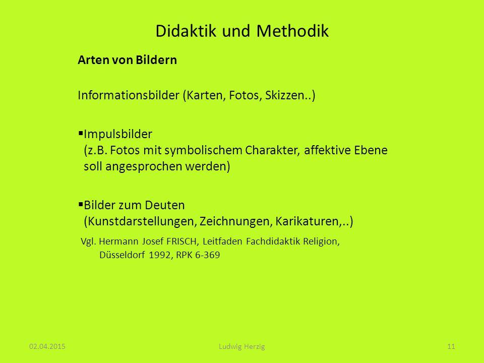 Didaktik und Methodik Arten von Bildern