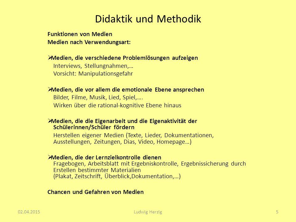 Didaktik und Methodik Funktionen von Medien