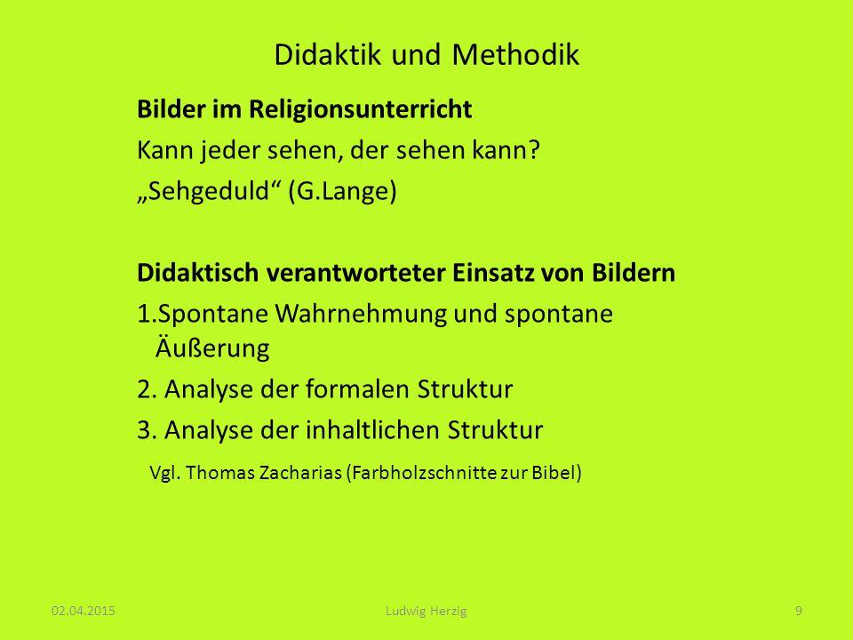 Didaktik und Methodik Bilder im Religionsunterricht