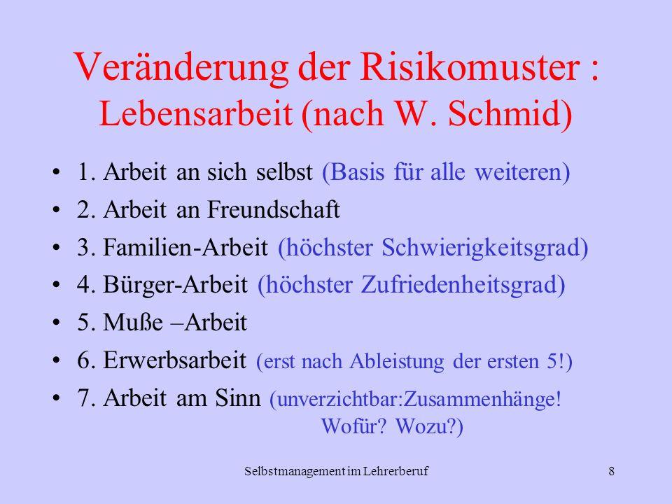 Veränderung der Risikomuster : Lebensarbeit (nach W. Schmid)
