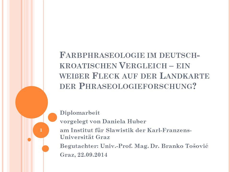 Farbphraseologie im deutsch-kroatischen Vergleich – ein weißer Fleck auf der Landkarte der Phraseologieforschung