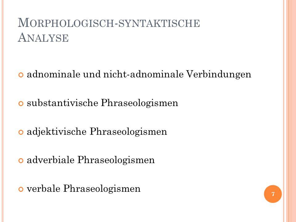 Morphologisch-syntaktische Analyse