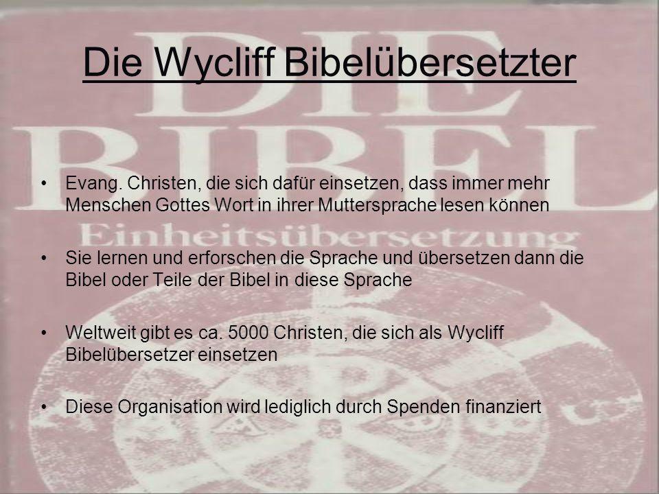 Die Wycliff Bibelübersetzter