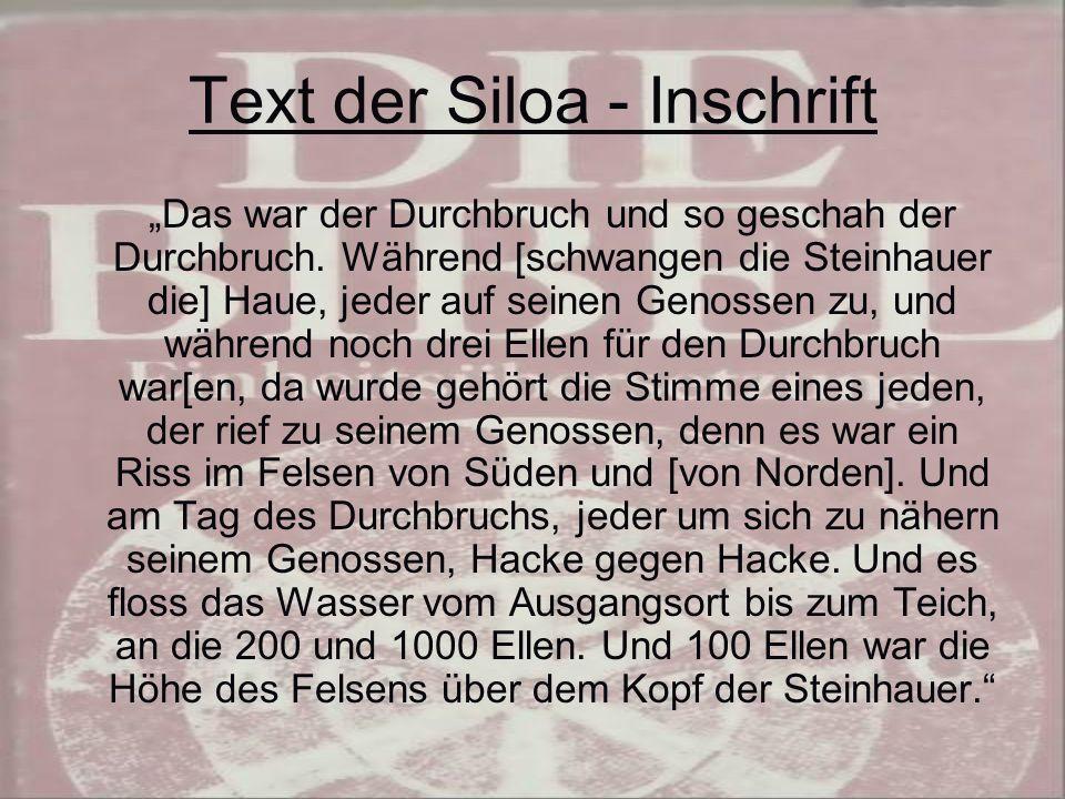 Text der Siloa - Inschrift